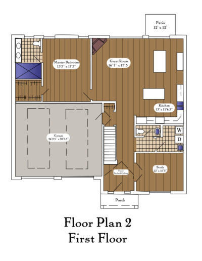 Color Floor Plan 2