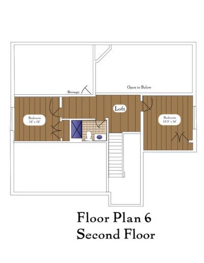 Color Floor Plan 6